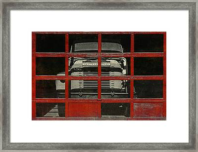Red Cage Framed Print by Jeff  Gettis