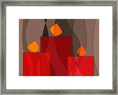 Red Candels II Framed Print by Val Arie