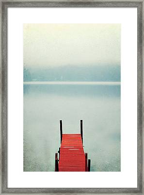 Red Framed Print by Carrie Ann Grippo-Pike