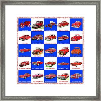 Red Cars Of America Framed Print by Jack Pumphrey