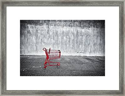 Shopping Cart Framed Print featuring the photograph Red Cart by Patrick M Lynch
