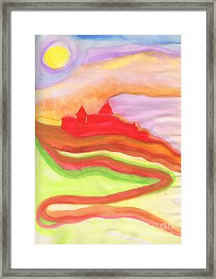 Red Castle Framed Print by First Star Art