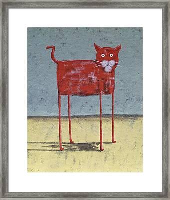 Red Cat Framed Print by Dan Engh