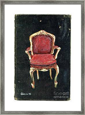 Red Chair Framed Print by Cathy Peterson
