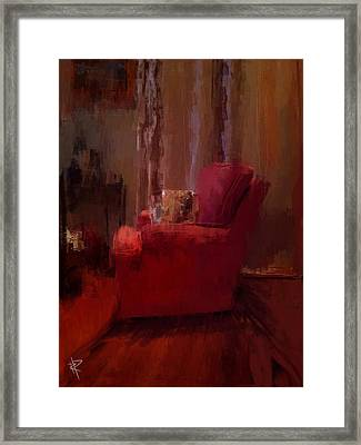 Red Chair In Profile Framed Print by Russell Pierce