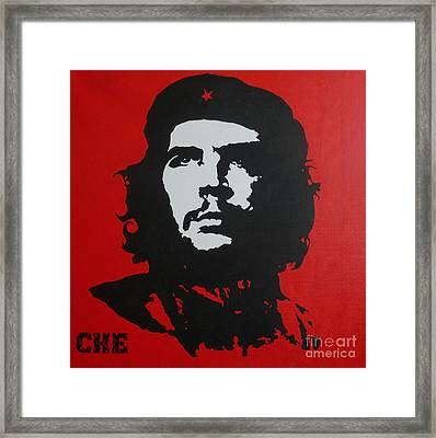 Red Che Framed Print by ID Goodall