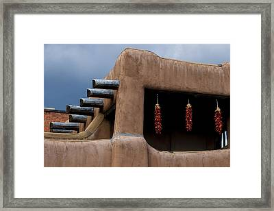 Red Chile Ristras Santa Fe Framed Print by Carol Leigh