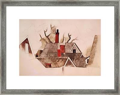 Red Chimneys Framed Print by Mountain Dreams