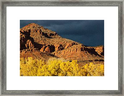 Red Cliffs National Recreation Area Fall Colors Leeds Utah Framed Print by Robert Ford