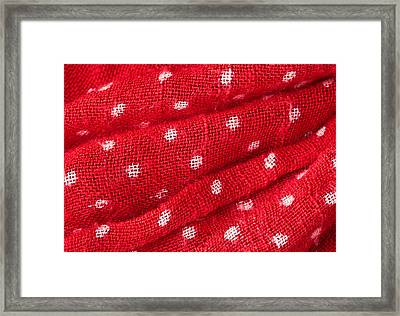 Red Cloth Framed Print by Tom Gowanlock