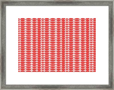 Red Cut Outs- Abstract Pattern Art Framed Print by Linda Woods