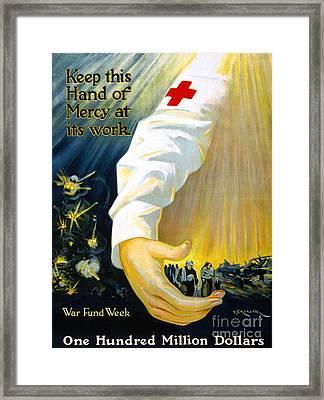 Red Cross Poster, 1918 Framed Print by Granger