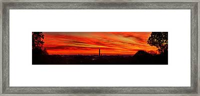 Red Dawn Framed Print by Metro DC Photography