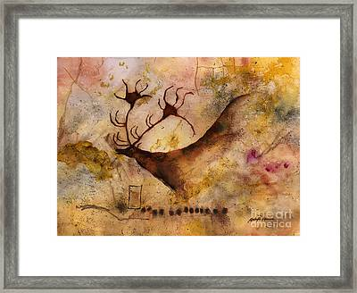Red Deer Framed Print by Hailey E Herrera