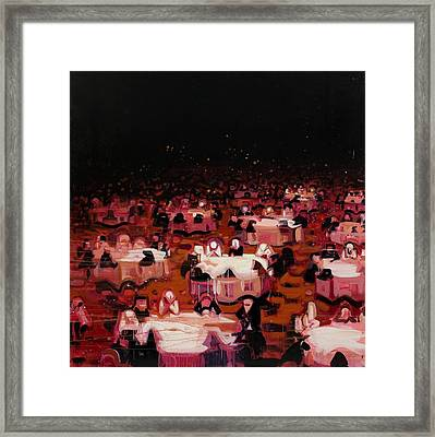 Red Dining Room 9 Framed Print by Susie Hamilton