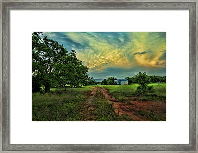 Red Dirt Road Framed Print by Toni Hopper