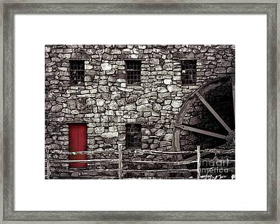 Red Door Framed Print by Jayne Carney