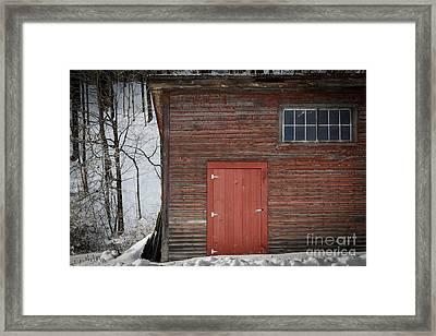 Red Door Red Barn Framed Print by Edward Fielding