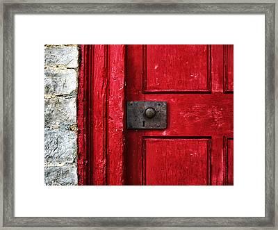 Red Door Framed Print by Steven  Michael