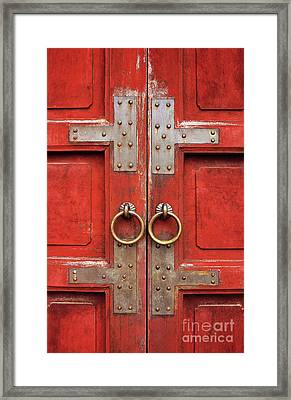 Red Doors 01 Framed Print by Rick Piper Photography