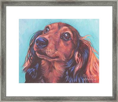 Red Doxie Framed Print by Lee Ann Shepard
