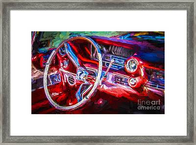 Red Drive Framed Print by Perry Webster