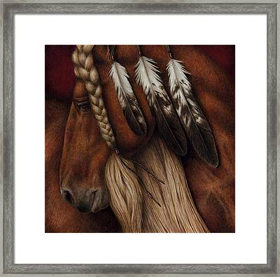 Red Eagle Framed Print by Pat Erickson