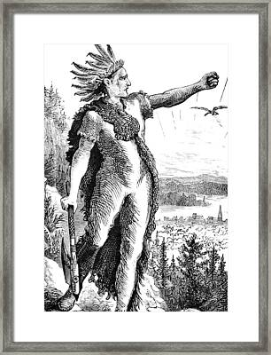 Red Eagle, William Weatherford, Creek Framed Print by British Library