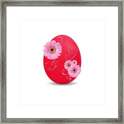 Red Easter Egg Framed Print by Aged Pixel