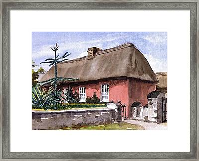 Clare A Well Off Farmers House Bunratty Folk Park Framed Print by Val Byrne