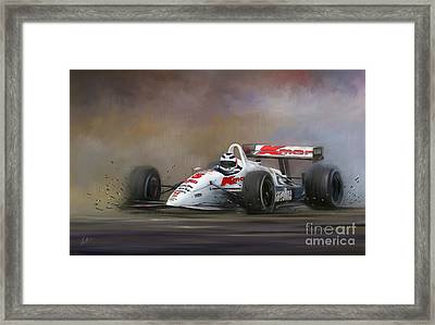 Red Five - Nigel Mansell Framed Print by Linton Hart