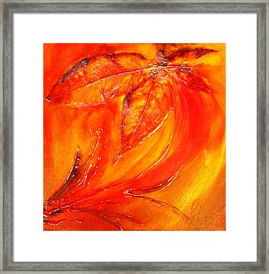 Red Flower Framed Print by Pat Purdy