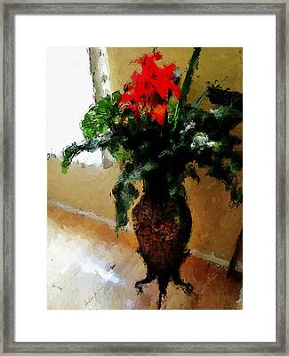Red Flower Stance Framed Print by Robert Smith
