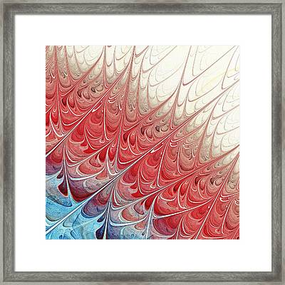 Red Folium Framed Print by Anastasiya Malakhova