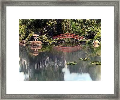 Red Foot Bridge Framed Print by Terry Reynoldson