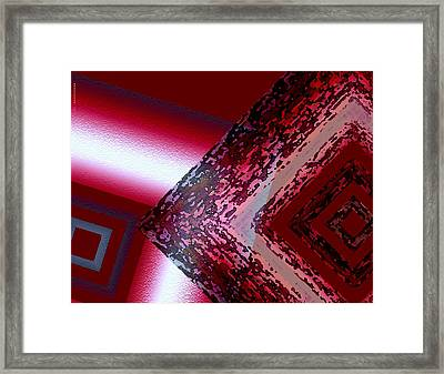 Red Fusion Framed Print by Mario Perez