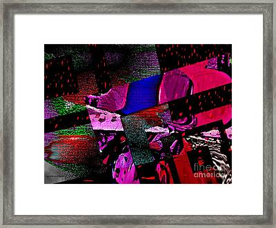 Red Geometric Expression Framed Print by Mario Perez