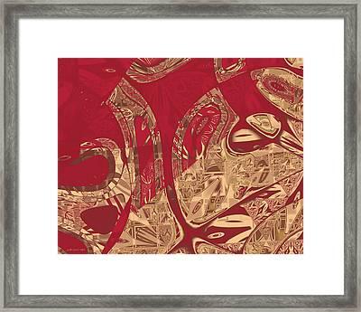 Red Geranium Abstract Framed Print by Judi Suni Hall