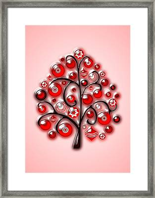 Red Glass Ornaments Framed Print by Anastasiya Malakhova