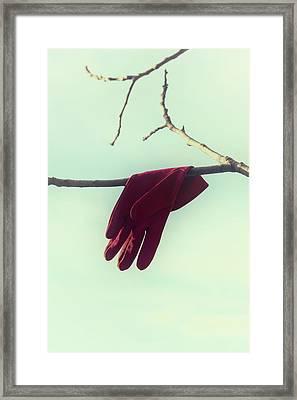 Red Glove Framed Print by Joana Kruse