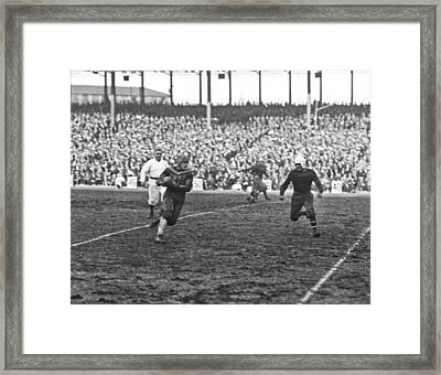 Red Grange Ny Pro Debut Framed Print by Underwood Archives