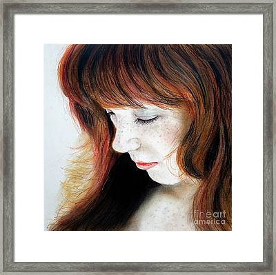 Red Hair And Freckled Beauty II Framed Print by Jim Fitzpatrick
