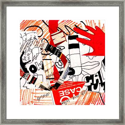 Red Hand  Framed Print by Richard Allen