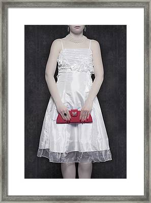 Red Handbag Framed Print by Joana Kruse