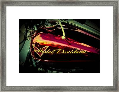Red Harley-davidson II Framed Print by David Patterson