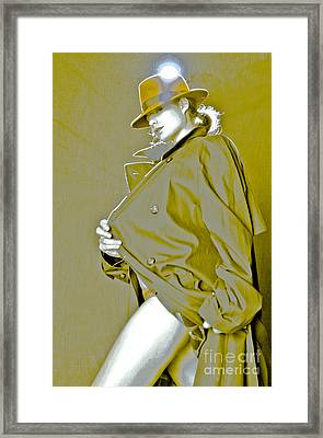 Red Hat And Trenchcoat Framed Print by Scott Sawyer