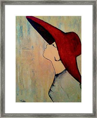 Red Hat Framed Print by Mirko