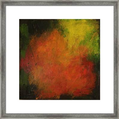 Red Haze Framed Print by Jim Ellis