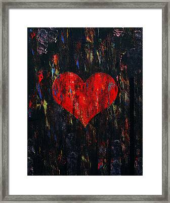 Red Heart Framed Print by Michael Creese