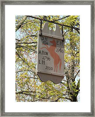 Red Horse Prances Framed Print by Barbara McDevitt